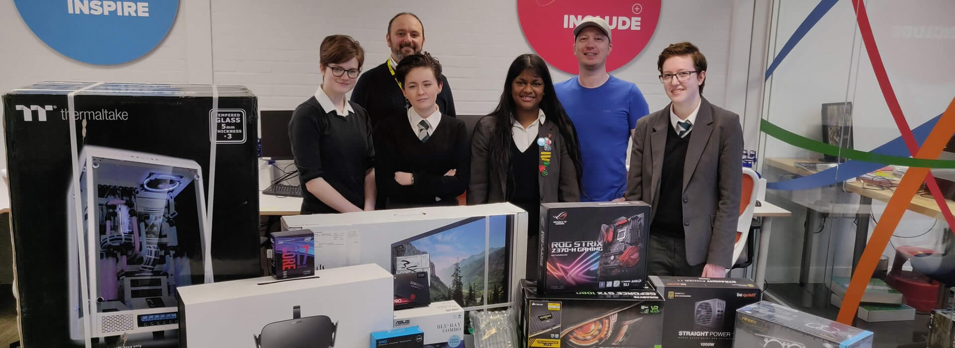 The Sixth Form design and build their ultimate VR and Gaming Rig with the parts donated by NCSC.
